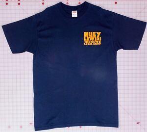 Huey-Lewis-amp-the-News-Local-Crew-Black-Large-T-Shirt