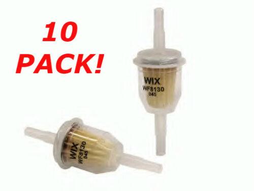 10 x Inline Filtre à essence petit Universal Fit 6 mm et 8 mm pipes * * Wix