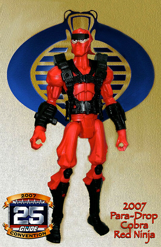 "Hasbro Sigma 6 ""Cobra ROT Ninja"" Para Drop GI Joe Convention Exclusive 2007 RARE"