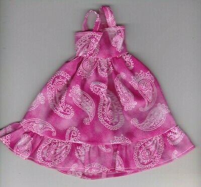 Doll Clothes-RETRO LOOK Print Sundress fit Barby Doll-Homemade SD3