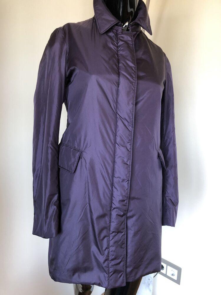 100% Original Aspesi Thermore Manteau Femmes Violet Taille Xs Neuf