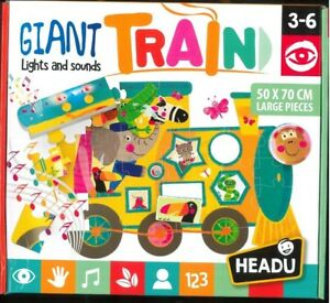 GIANT-TRAIN-lights-and-sound-HEADU-PUZZLE-LARGE-PIECES-50X70cm-3-6-ANNI
