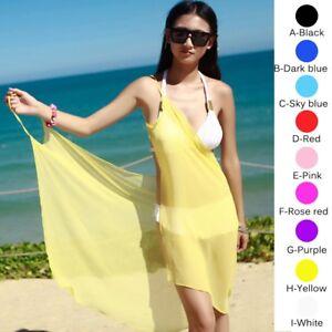 fa0a8fae80 Women s Bikini Swimwear Cover Up SEXY Summer Beach Dress Sarong Sexy ...