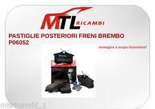 PASTIGLIE POSTERIORI FRENI BREMBO P06052 MINI MINI R56 ONE D DAL 2009
