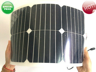 sunpower Flexible 20W 12V Solar Panel batterie charger cable System  with usb