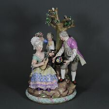 Meissen große Figurengruppe Acier Figur figure figurine Porzellanfigur porcelain
