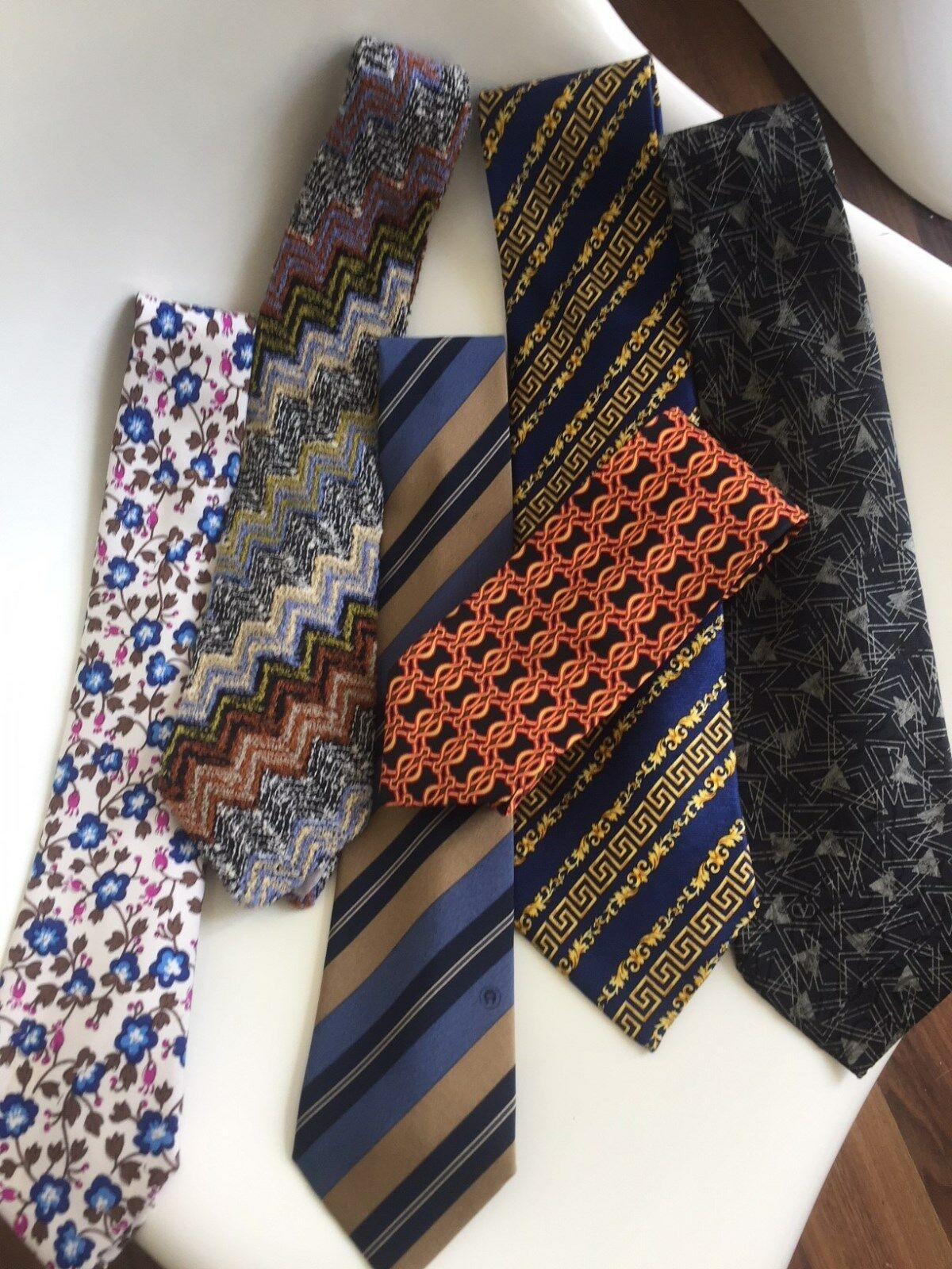 Bundle Tie Aigner Missoni Christian Dior Valentino Kenzo Versace Silk