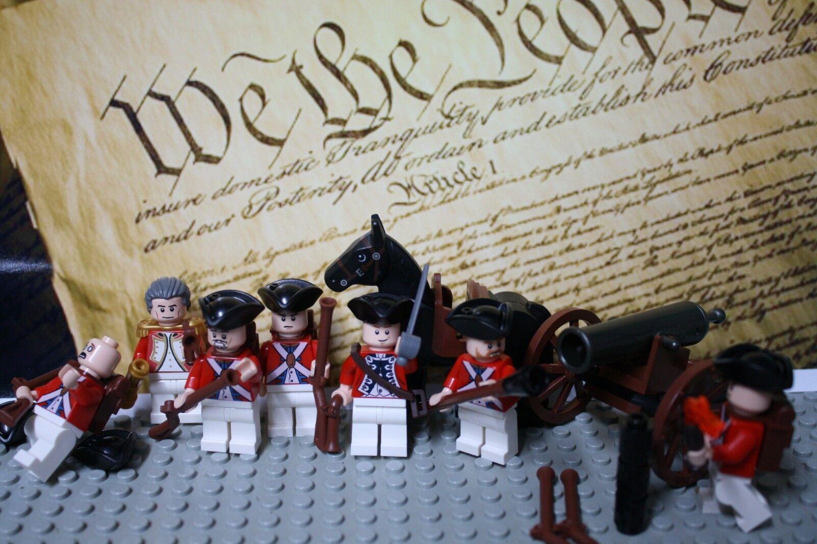 Lego guerra revolucionaria casaca roja soldados británicos nuevo 100% Genuine Lego Leer