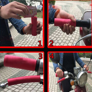 1pair-soft-foam-sponge-bike-cycle-bicycle-handle-handlebar-bar-grips-ZX