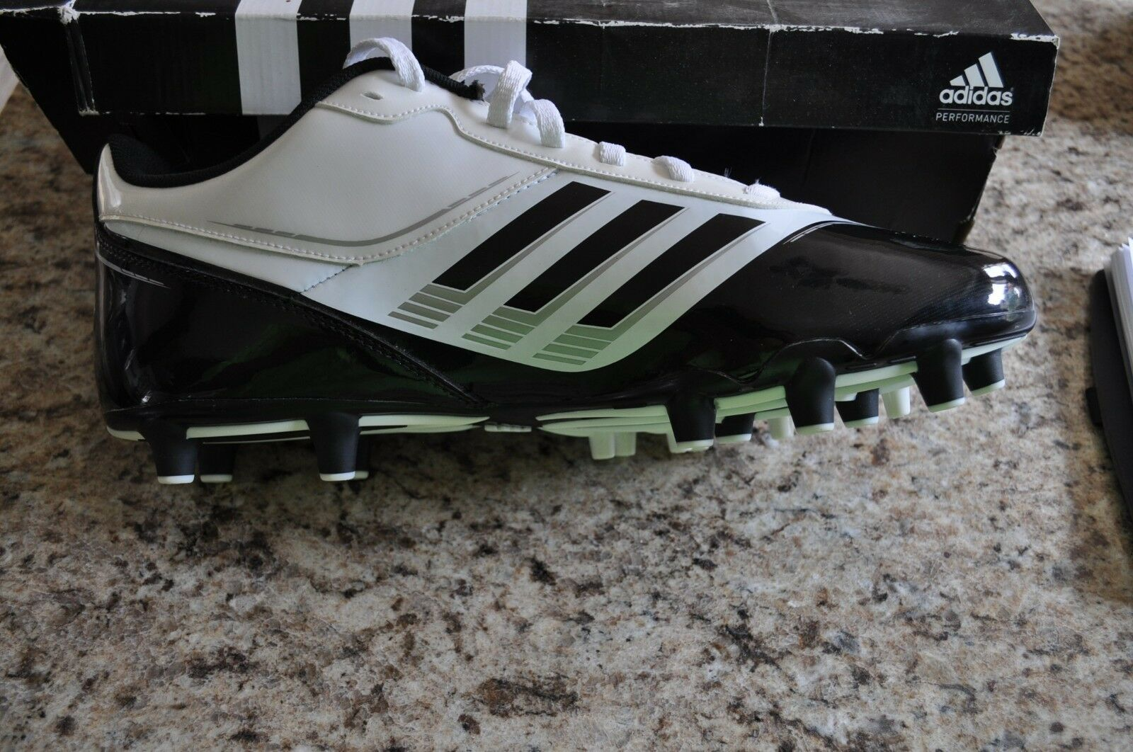 2ac93d02a NEW Adidas Supercharge Mens Football Cleats G48851 BLK WHT Size 14 Fast Ship