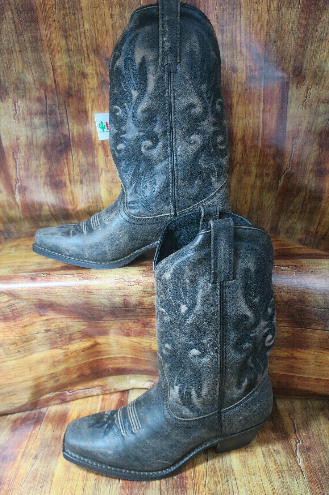 Laredo Laredo Laredo Maricopa Womens Size 9.5 Black Tan Western Cowboy Cowgirl Boots 1306 58bdc6