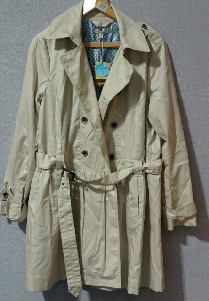 Joules Evelyn Oyster Ladies Mac Size 16 New