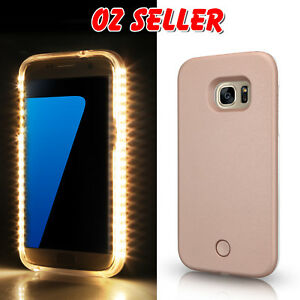new concept f75a6 04123 Details about Luminous LED Light Up Flash Selfie Case Cover for Samsung  Galaxy S7 | S7 edge