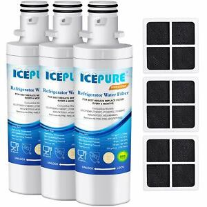 4eb6c555c0b57 Details about (3 Pack) Water Filter and Air Filter Fits LG LT120F  ADQ73214402 Refrigerator