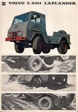 Volvo L 3314 Laplander 1963-64 UK Market Foldout Sales Brochure
