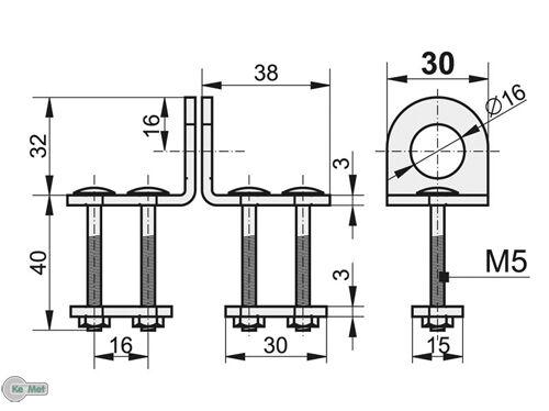 Dévaliser pour rolltore pour cadenas 30 mm kellerverschluß galvanisé