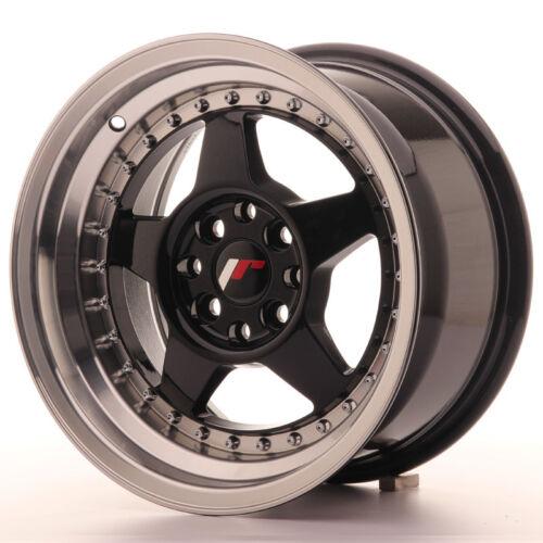 "108 Nero silver Un Cerchio in Lega Japan Racing JR6 15/"" x 8/"" ET 25 4 x 100"