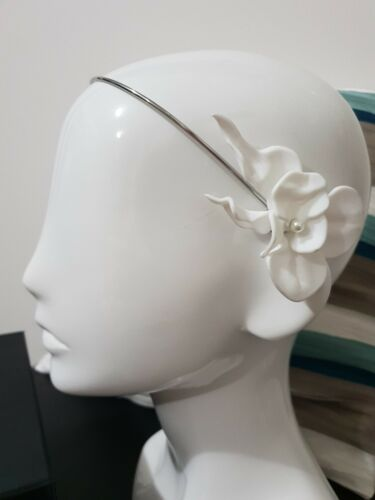 ???MIMCO New Flourish Halo FASCINATOR RACER WEDDING HEADPIECE RACER $149??