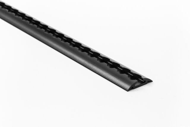 SALE! 2x 0,5 m Alu Airlineschiene Zurrschienen halbrunde Form schwarz ungebohrt