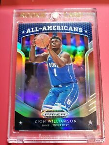 2019-20-Panini-SILVER-Prizm-All-Americans-100-Zion-Williamson-RC-Rookie-holo-sp