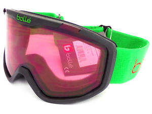 88096768a2 Details about BOLLE Childrens Kids 6-12 ROCKET Snow Ski Goggles Black Bear   Vermillon 21771