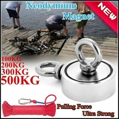 500KG Neodym Magnet Bergemagnet Suchmagnet zum Angeln Fischen Doppelseit