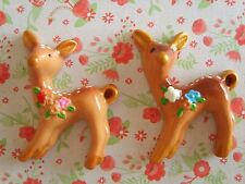 2 x Large Beautiful Sika Deer Flatback Resin Embellishments Cabochon DIY