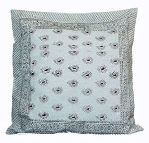16X16 Indian Decorative Cotton Cushion Cover Throw Pillow Cases Hand Block Print