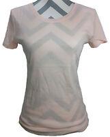 Daisy Fuentes Crew Neck Tee, Petal Peach Women's T-shirt Sizes Medium, Large