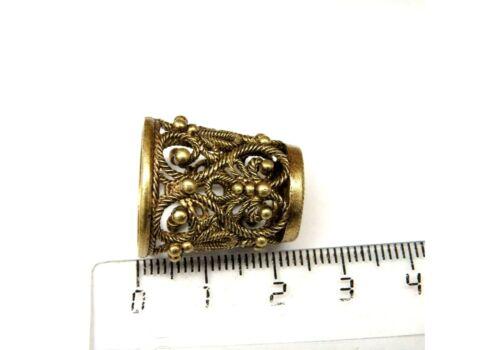 New Durchbrochener Fingerhut  Bronze Brass Russian Openwork №3 Thimble Наперсток