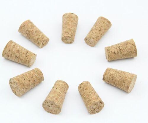 5-10pcs New Unused Taper Natural Corks Stopper for 16-25MM Bottle