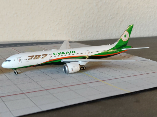 Modelfly, NG model Eva Air 787-9, skala 1/400, Perfekt…