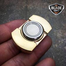 MINI EDC Focus Brass All Metal Fidget Spinner 4 MIN SPIN TIME! QUALITY USA -T