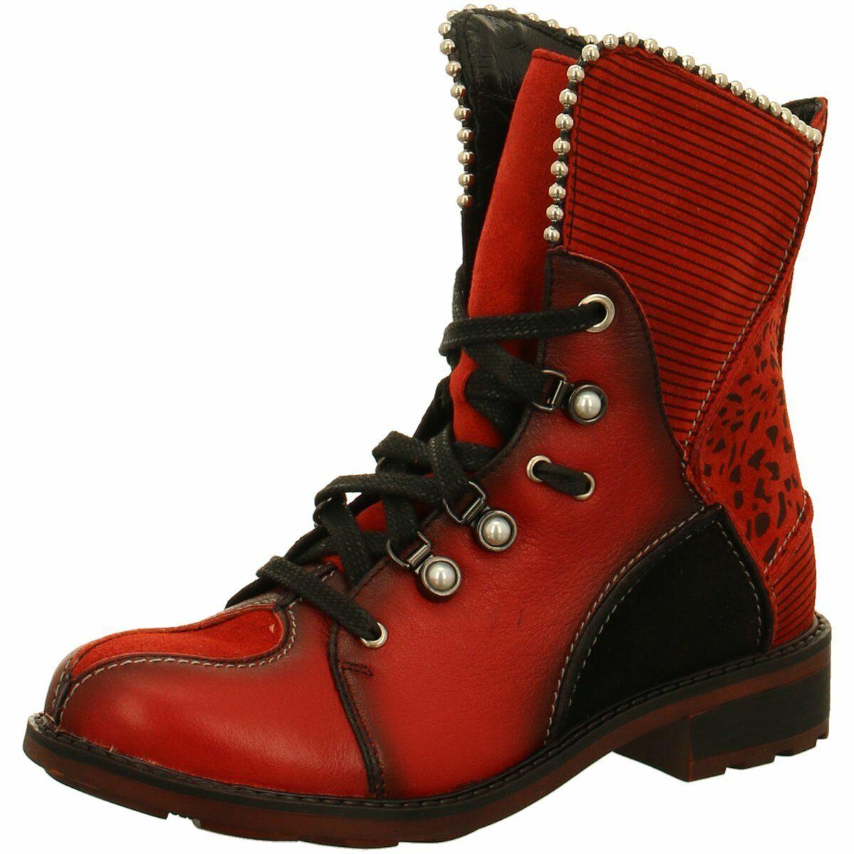 Maciejka Damen Stiefeletten Stiefel in Rot-Schwarz 03623-08 00-3 rot 738309