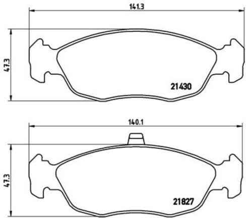Brembo Sport Bremsscheiben Ø247mm Beläge vorne für Citroen Saxo Xsara Coupe