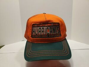Miami-Hurricanes-New-Era-59-Fifty-Mens-Baseball-Mesh-Hat-Orange-Green-Snapback