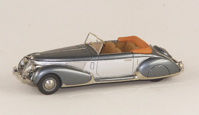 ABC 057G LANCIA ASTURA CABRIOLET PININFARINA 1938 (GREY DARK GREY)
