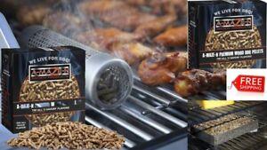 WOOD FLAVOR PELLETS OAK SMOKER SMOKE BBQ GRILLING FOOD ...