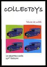 COLLECTOYS  27 eme  vente de jouets anciens      15 decembre 2001