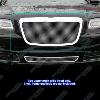 APS Compatible with 2011-2014 Chrysler 300 300C Stainless Steel Mesh Grille Grill Combo Insert