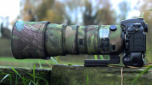 Sigma-150-600mm-Sport-Neoprene-lens-protection-camouflage-cover-Woodland-Green