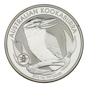 2012-Australia-1-Silver-1oz-Kookaburra-w-Dragon-Privy-BU-Condition-amp-Capsule