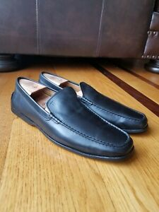 Tod-039-s-Men-039-s-Black-Leather-Casual-Driving-Loafers-Moccasins-Size-US-11-10-UK
