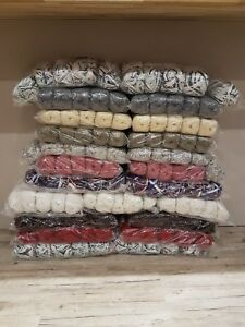BIG-BUNDLE-KNITTING-CROCHET-WOOL-YARN-BALLS-1000g-RANDOM-MIXED-NO-LABELS-BUT-NEW