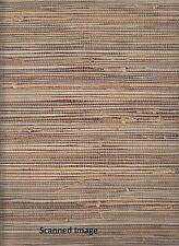 89472, 2661-11 Natural Grasscloth Wallpaper Chestnut Brown Background