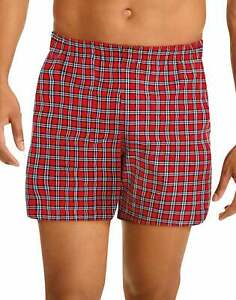 Hanes Mens Tartan Boxers 5 pack Comfort Flex Waist TAGLESS Assorted Colors S-XL