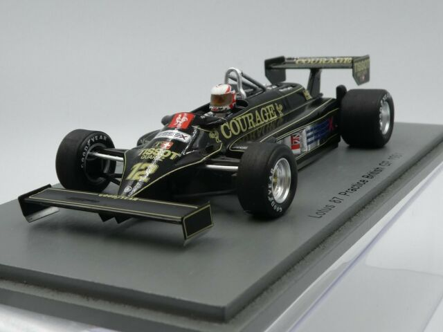 Spark 1:43 Nigel Mansell Lotus 87 Courage Practice British GP F1 1981 S5351 new