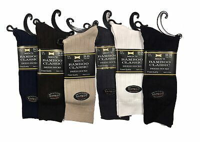 NEW 6 Pairs Kids Black Tuff Stuff Cotton Casual Dress Crew Socks