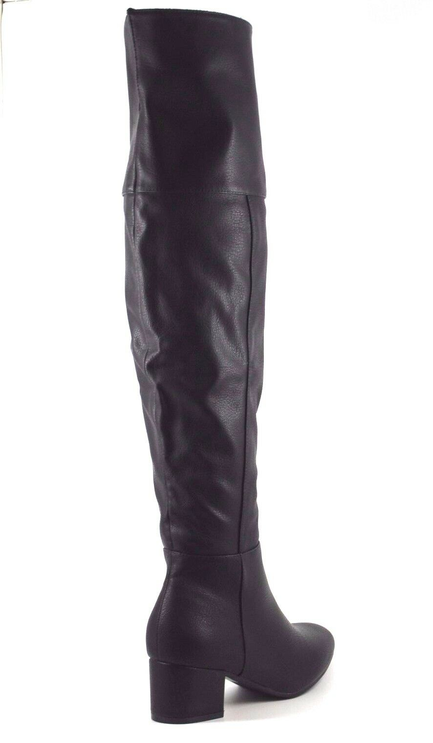 Truffle Collection Hunter Womens UK5 Black Black Black Thigh High Over Knee Block Heel Boots 4834a7