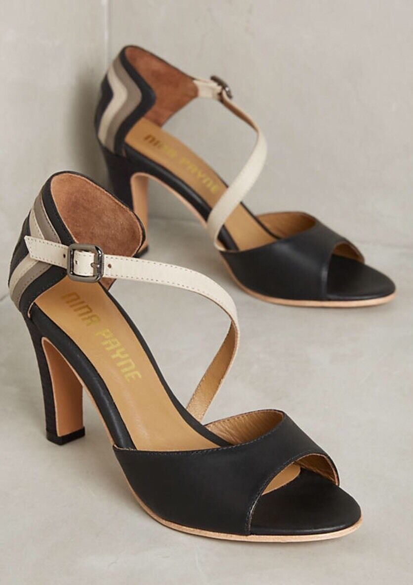 NEW Nina Payne Sosa Colorblock Colorblock Sosa Heels Pumps Size 39 9ea3fd